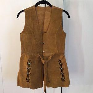 Leather vest/dress